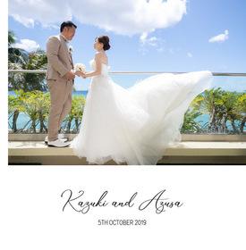 ハワイ マカナチャペルの結婚式。