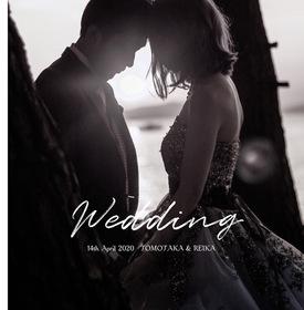 フォトウエディングの結婚式。