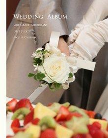 花装も全て白と緑にしてシンプルにこだわった結婚式です。