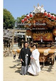 神社での挙式の後、和装で披露宴入場、お色直しがウェディングドレスです。