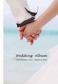 【挙式・ロケーションフォト・新婚旅行】自分撮り写真で海外挙式の眩しい雰囲気が伝わるアルバムです。