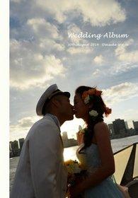 【前撮り・挙式披露宴】 和装の前撮りと停泊中の船の中での結婚式、レストランでの披露宴、最後にクルーズです