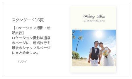 【ロケーション撮影・新婚旅行】 ロケーション撮影は通常のページに、新婚旅行を最後のシャッフルページにまとめました。