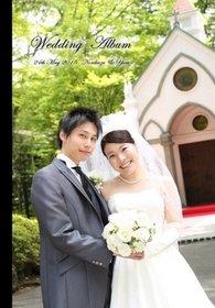 長野の松本城での前撮り、旧軽井沢ホテル音羽ノ森での挙式・親族との披露パーティー、ハワイの新婚旅行の写真を一冊にまとめました。結婚式アルバム。
