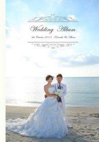 カラードレスでのスタジオ撮影とウェディングドレスでの沖縄ビーチ撮影です。結婚式アルバム。