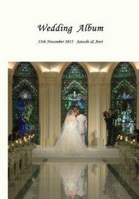 見本の商品を見て、レイアウトがステキだったのでお願いしました。結婚式アルバム。