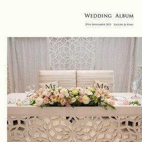 プロ撮りの写真と自分撮りのお気に入り写真を組み合わせて作成しました。結婚式アルバム。