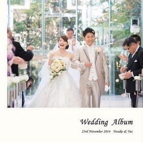 昨日結婚式アルバムを受け取ることができました。結婚式アルバム。
