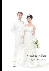 スタンダード16ページに、前撮り写真と挙式披露宴の様子をまとめました。結婚式アルバム。