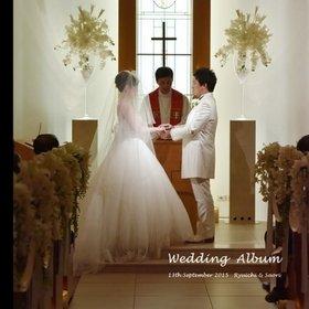 港区の ホテル インターコンチネンタル東京ベイでの挙式披露宴と前撮り写真です。結婚式アルバム。