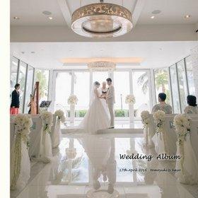 デザインも製本も満足しています。結婚式アルバム。