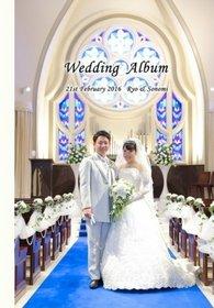 挙式、披露宴、二次会、新婚旅行まで一冊にまとめました。結婚式アルバム。