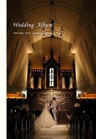 挙式・披露宴・二次会・前撮りを収めた一冊。結婚式アルバム。