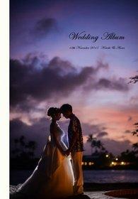 スタイリッシュでおしゃれな結婚式アルバムにしたいとのご希望でした。結婚式アルバム。