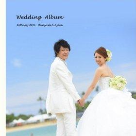ハワイのセントラルユニオン大聖堂での挙式を収めた結婚式アルバムです。結婚式アルバム。