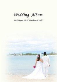 ハワイのビーチでの野外ウェディングとロケーション撮影の結婚式アルバムです。結婚式アルバム。