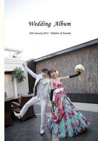 挙式、披露宴の様子をスタンダード16ページにまとめた一冊です。結婚式アルバム。