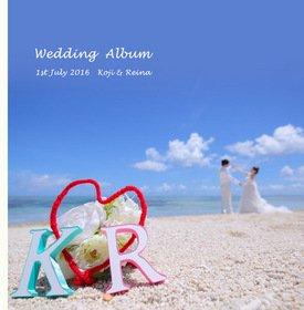 【ロケーション撮影・新婚旅行】 沖縄の海は本当に綺麗ですね。お天気もビーチ撮影日和です。