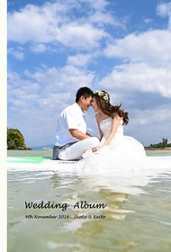 沖縄での前撮りという事で、大きめに写真を使用しました。結婚式アルバム。