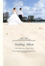 やはりハワイでの開放的な挙式は素敵ですね☆前撮り写真も和装洋装の4種類の衣装それぞれ収録しています。結婚式アルバム。