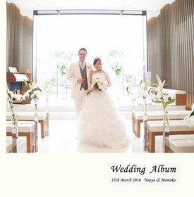 ラージ40ページに、挙式、披露宴、前撮り写真を収めました。結婚式アルバム。