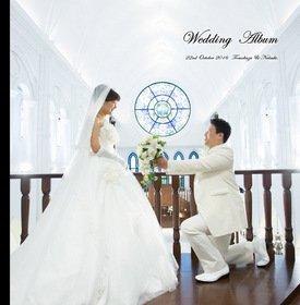 結婚式アルバム届きました!ありがとうございました!見本をみてデザインが素敵で、お値段も安かったので決めました。結婚式アルバム。