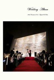 大阪府での挙式・披露宴です。これまでに制作したお客様の結婚式アルバムの中から、オリジナルのデザイン例をご紹介します。