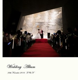 Mia Viaでのナイトウエディング。結婚式アルバム。