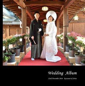 【挙式・披露宴】 お子様と一緒の結婚式です。新郎新婦と合わせて和装から洋装へちゃんと衣装替えしてます。